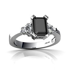 14kt White Gold Black Onyx and Diamond 7x5mm Emerald_Cut Simply Elegant Ring - Size 6 Jewels For Me http://www.amazon.com/dp/B003A0KT8K/ref=cm_sw_r_pi_dp_IZjKwb0ZZMQ1Q