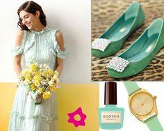 LOVE the mint dress!