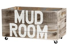 """""""Mud Room"""" Crate, 27"""" 
