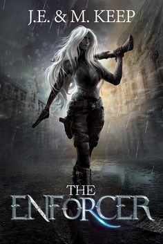 """#Cover reveal """"The #Enforcer"""" by J.E & M. Keep.  I loved working on this one, the character is full hand-painted."""