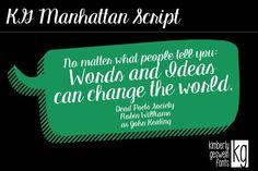 KG Manhattan Script. Script Fonts. $5.00