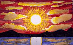 Midnight Sun, Norway II (2003) - David Hockney