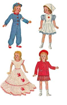 McCall 1015 1940s Doll Clothes Sewing Pattern by retromonkeys, $16.00