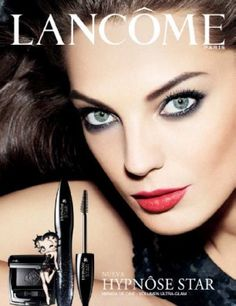 Daria Werbowy for LANCOM 'Hypnose Star' Mascara ad campaign Chanel Beauty, Beauty Ad, Armani Beauty, Beauty Shots, Beauty Makeup, 1940s Makeup, Makeup Ads, Vintage Makeup, Makeup Poster