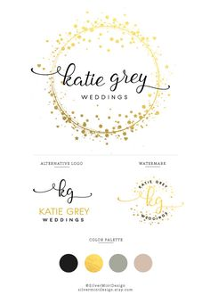 BRANDING KIT: PREMADE LOGO + ALTERNATIVE LOGO + WATERMARK + COLOR PALETTE This Premade branding kit is perfect for photographers, venues, florists, interior designers, bloggers, event planners, wedding , stylists, boutiques, fashion labels, make-up artists and other beautiful businesses. After purchasing, each premade kit will be customized by following: • YourName/Store name • Optional Tagline • In case you want to change colour ( for text and watercolor) BONUS: For ensure to you the best…