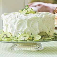 KEY LIME CAKE 1 lemon cake mix 1 cups vegetable oil 4 eggs 1 package lime flavored gelatin mix 3/4 cup orange juice Mix together and divide among pans of choice and cook according to cake box directions. Key lime Frosting 1/2 cup butter 1 package cream cheese 3 tablespoons fresh lime juice 1 tablespoon orange juice 4 cups confectioners' sugar zest from one lime