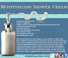 The best homemade chemical-free moisturizing shower gel infused with essential oils!