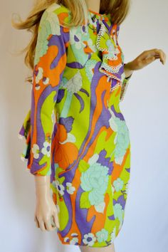 Vintage 1960's Women's PsYcheDeLiC Junior by ElectricLadyland1, $179.99