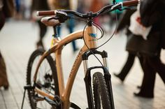RETRO BICYCLE - HIPSTER BIKE - Classic MTB rover with a multi-layer painted wood frame, which easily absorbs mechanical vibrations and dampens unpleasant shocks. Wooden Bicycle, Retro Bicycle, Layer Paint, Bike Accessories, Painting On Wood, Mtb, Painted Wood, Biking, Bicycles