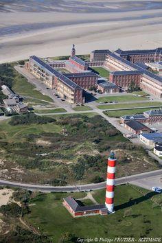 Photo aérienne de Berck - Pas-de-Calais (62)   Phare de la Pointe du Haut-Banc
