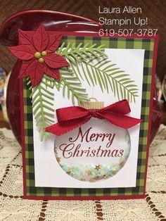 Paper Pumpkin October 2017 Pining for Plaid-Alternative Idea Chrismas Cards, Christmas Cards 2017, Stampin Up Christmas, Holiday Cards, Christmas Crafts, Poinsettia Cards, Christmas Poinsettia, Stampin Up Paper Pumpkin, Pumpkin Cards