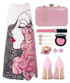 """""""Style  #587"""" by simona-altobelli ❤ liked on Polyvore featuring Giamba, Gianvito Rossi, Christian Dior, Bobbi Brown Cosmetics, Tasha, Velvet, Ted Baker, Bling Jewelry, MyStyle and pinklips"""