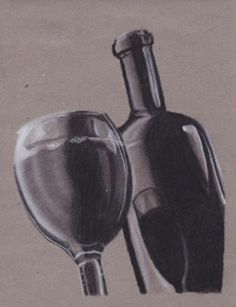 Título: Sólo una copa más Autor: Diana Rueda Técnica: Pastel sobre papel