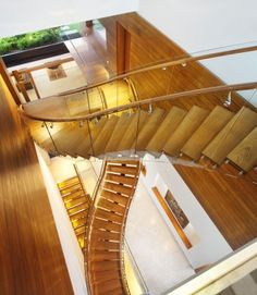 Incredible single-stringer, timber, residential staircases.