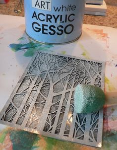 Creative Expressions: brayered gesso resist