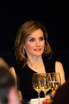 Princess Letizia of Spain attends the Dinner-Tribute to Mr. Enrique V. Iglesias, First Iberoamerican General Secretary at Casa de America on 04.03.14 in Madrid