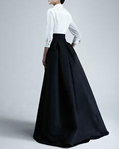 Carolina Herrera Taffeta Gown (back) - Neiman Marcus