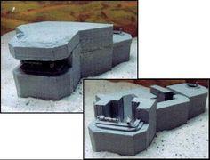 DOLP - Modellbau, Top, Shop, M.G.M. Bunkermodelle 1/72, Bunker, M.G.M. 70/20 Dt. Beobachtungsbunker V6 mit angebauten Tobruk-Stand