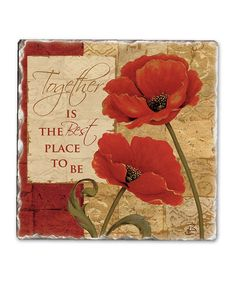 8pc Set of Red Poppy Floral Design Placemats and Coasters Place Mats