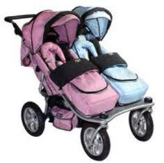B/G stroller. Twins or siblings.