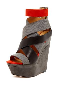 Yes Ma'am! L.A.M.B. Dove Platform Strappy Wedge by Stand Tall Footwear on @HauteLook