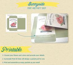CUSTOM Printable Seed Packet Favor DIY by sunnysideprintparty