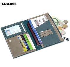 Best Deals $12.43, Buy New 4color Driver License Bag Split Genuine Leather on Cover for Car Driving Document Card Passport Holder Purse Wallet Case