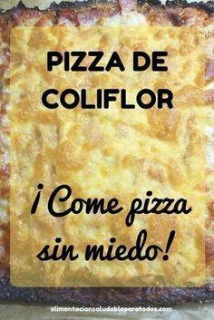 Pizza de coliflor #pizzadecoliflor #recetasana #lowcarb