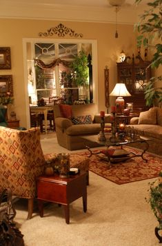 living room interior design ideas and home decor The post Beautiful den.living room interior design ideas and home decor… appeared first on Home Decor For US . Tuscan Living Rooms, French Country Living Room, Classic Living Room, Cozy Living Rooms, Living Room Interior, Home Living Room, Living Room Furniture, Living Room Designs, Living Room Decor