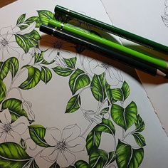 Coloring Book Art, Leaf Coloring, Adult Coloring Pages, Coloring Tips, Colored Pencil Tutorial, Colored Pencil Techniques, Faber Castell Polychromos, Leaf Drawing, Drawing Art