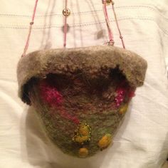 Felted hanging pot by faglar on Etsy
