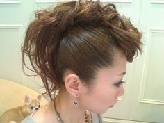 Faux Mohawk Curly by Binosusume. Love her hairstyles and now that my hair is longer I look forward to doing these.