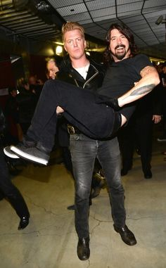 Josh Homme of Queens of the Stone Age & Dave Grohl of the Foo Fighters