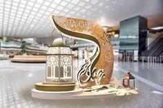 Mega Mall Sharjah (UAE) Ramadan Decoration on Behance Pop Display, Visual Display, Ramadan Decorations, Festival Decorations, Sharjah, Exhibition Stall Design, Ramadan Lantern, Ramadan Gifts, Motif Floral