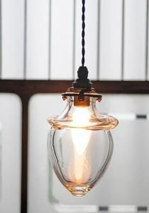 One of many pendant lamps. Perhaps for the dining room? Or a perfectly enclosed porch. {via Remodelista} Hand blown glass lamp from Analogue Industrial Light Fixtures, Industrial Lighting, Pendant Lighting, Pendant Lamps, Design Industrial, Vintage Lighting, Modern Industrial, Hallway Lighting, Home Lighting