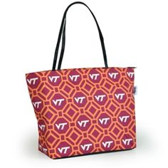 Stylishly show off your Virginia Tech team spirit as you toss your new tote over your shoulder and head to the game! Our design crew has pulled out all the bells and whistles on our new Shopper Tote with multiple interior pockets, hanging key hook, zipper closure and vegan leather handles. It's your new game day go to! And the best part... are you ready? The exterior is completely removable which allows you to easily throw it in the wash and easily allows the addition of a monogram.