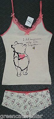 Winnie The Pooh Primark Vest  amp  Brief Women s Underwear   Sleep Set NEW  6- e4a50de7c9