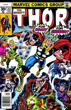 Thor #257, March 1977, cover by Jack Kirby and Joe Sinnott tumblr_nrtg3h68Ep1qbgo38o1_540.jpg (523×810)