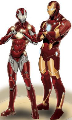 Iron Man and Rescue ( Sad they left this out of Iron Man 3 )