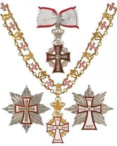 order of danneborg  sash white red border  denmark  cross