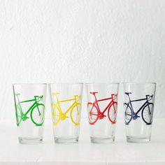 BARWARE bicicleta VITAL serigrafiado vasos de pinta de por vital