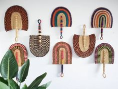 Beautiful handwoven and decorative Bolga fan, hand fan, African fan, Ghanaian fan -handmade and ethically sourced African Interior, African Home Decor, Grand Designs, Basket Weaving, Hand Weaving, Wall Fans, Felt Garland, Unique Wall Decor, Baskets On Wall