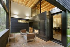 Courtyard House on a River Modern Home in Greenwater, Washington by… on Dwell