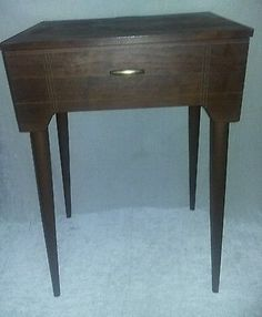 $99.96 or best offer Vintage SINGER Wood Stand Mid Century Modern Sewing Machine Cabinet