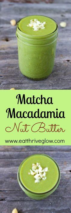 Matcha Macadamia Nut Butter