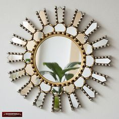 "Peruvian Decorative Sunburst Mirror Accent Mirrors wall decor from Peru ""Sun Inka"", Round mirror distressed Gold & Silver Leaf Finish Sun Mirror, Sunburst Mirror, Round Wall Mirror, Round Mirrors, Floor Mirror, Accent Pieces, Handicraft, Hand Carved, Wall Decor"