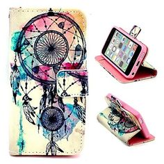 Dreamcatcher Pattern PU Leather Full Body Case with Stand and Money Holder for iPhone 5C – CAD $ 10.92