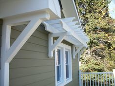 Pergola window awning to dress up the windows in the back of the house. Black to match the Pergola on the side patio. Diy Pergola, Garage Pergola, Building A Pergola, Small Pergola, Pergola Canopy, Pergola Attached To House, Wooden Pergola, Outdoor Pergola, Pergola Shade