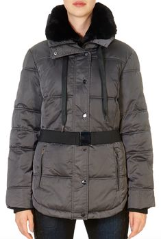 This is the 'Elleni' Grey Puffer Coat by our friends at Rino & Pelle! Elevate your winter wardrobe with the Rino and Pelle Elleni jacket. This expertly crafted piece of outerwear is packed with features to protect you against the elements, with a water repellent quilted outer, front zip and snap button closure, detachable faux fur collar, pack-away hood and ribbed cuffs.The Elleni also boats a flattering waist belt detail, side vents, drawstring collar and branded hardware for a premium… Winter Coats Women, Winter Jackets, Grey Puffer Coat, Faux Fur Collar, Winter Wardrobe, Shop Now, Boats, Cuffs, Hardware