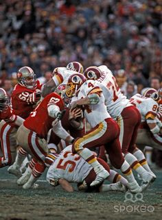 John Riggins Washington Redskins | Washington Redskins running back (44) John Riggins in action against ...